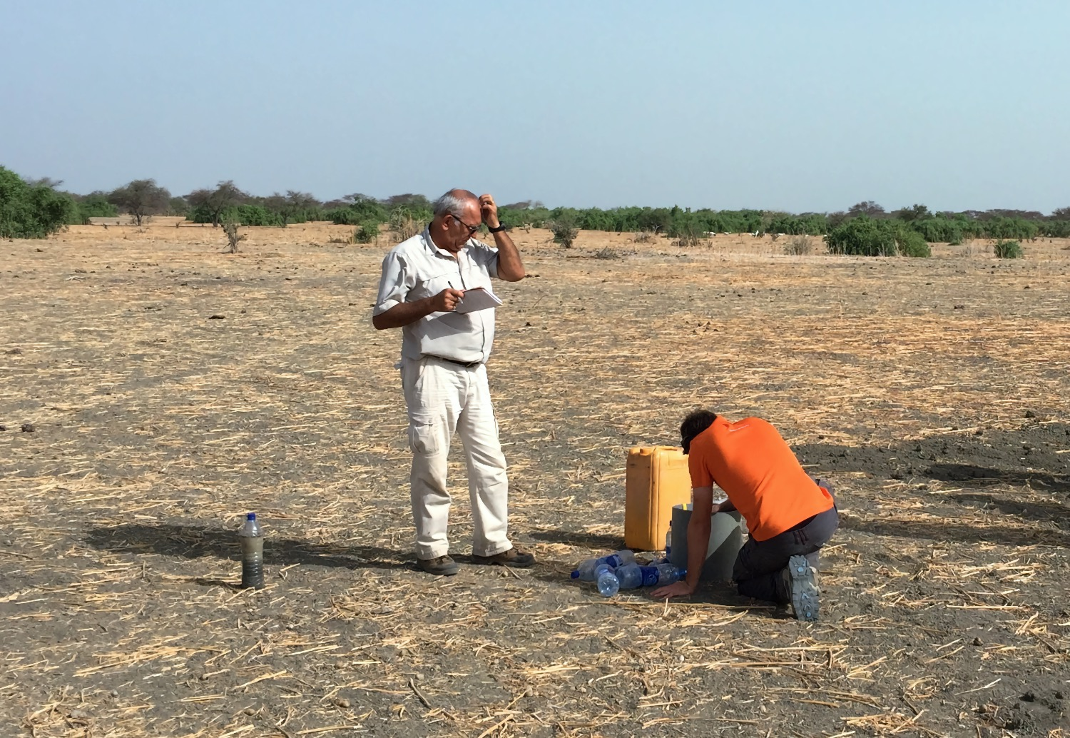 Water infiltration test performed by FGM International in Chad
